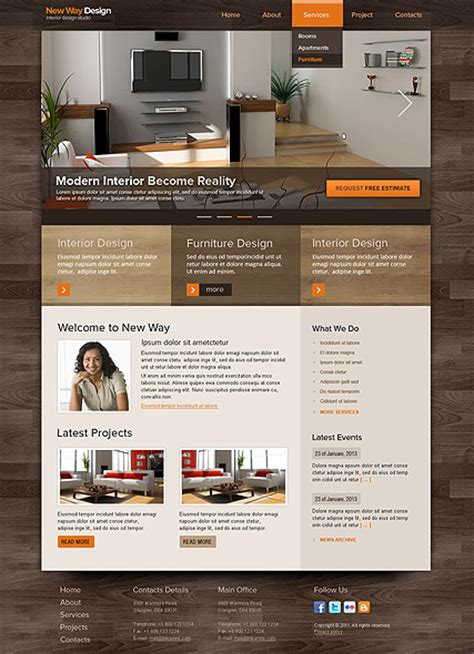 Interior Design Template Free by Interior Design Html Template Id 300111522