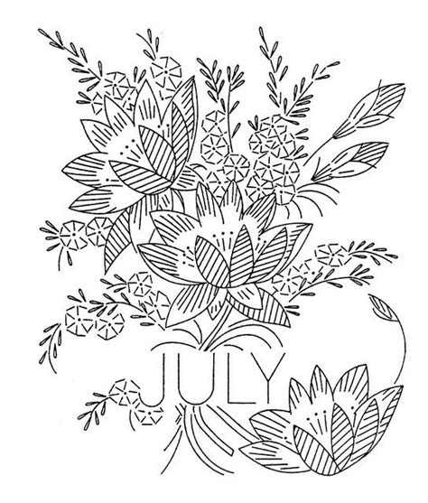 flowers of the month coloring pages july vintage flower of the month transfer larkspur or
