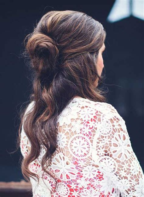 updos for long hair that i can do myself 20 chic half updo hairstyles long hairstyles 2016 2017