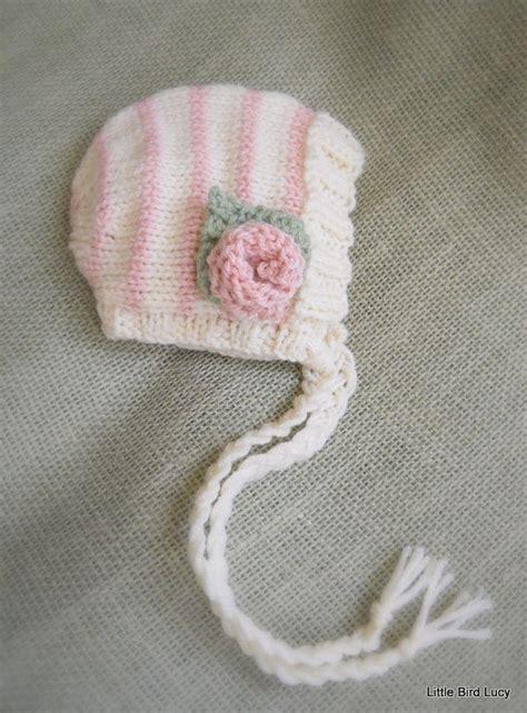 knit baby bonnet knit baby hat bonnet knitted newborn knitting babies