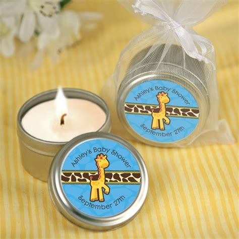 Giraffe Baby Shower Favors by Giraffe Boy Candle Tin Personalized Baby Shower Favors