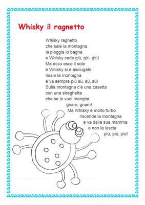 canzone ci vuole un fiore illustrata whisky ragnetto canzone e testo per cantare con i bambini