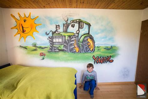 Kinderzimmer Gestalten Junge Traktor by Graffiti Sprayer Kunstler Auftrage Professionelle Angebote