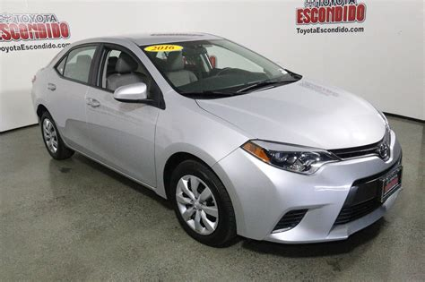 Certified Toyota Certified Pre Owned 2016 Toyota Corolla Le 4dr Car In