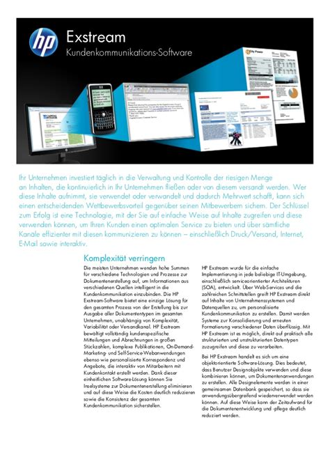 Hp Exstream Documentation by Hp Exstream Kundenkommunikation