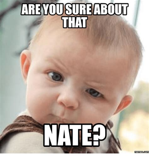 Who Is This Meme - are yousure about that nate memesacom nate meme on sizzle