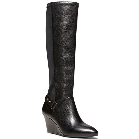steve madden wedge boots steven by steve madden wedge boots in black lyst