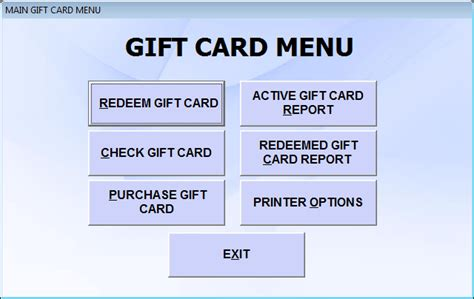 Restaurants Com Gift Card Redeem - gift card software restaurant gift cards
