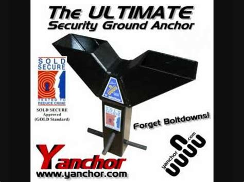 Y anchor THE ULTIMATE MOTORCYCLE SECURITY GROUND ANCHOR