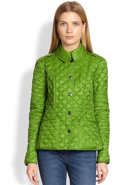 Green Quilted Jacket by Burberry Kencott Quilted Jacket In Green Lyst
