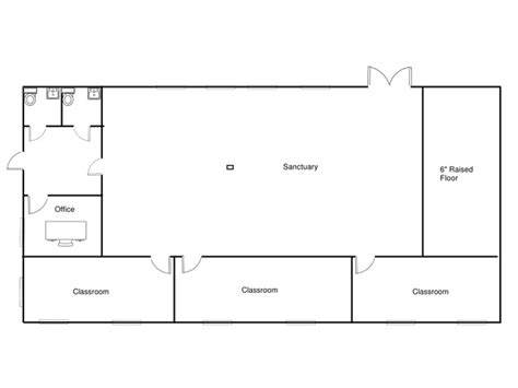 Church Fellowship Hall Floor Plans education