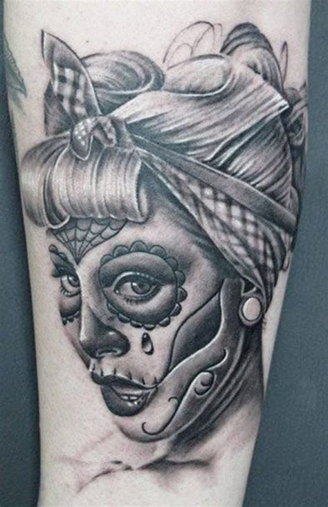 pin up tattoo sugar skull pin up drawing at getdrawings free for