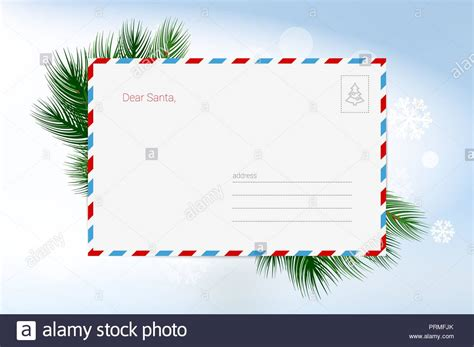 letter  santa claus vector christmas greeting card template merry christmas  happy