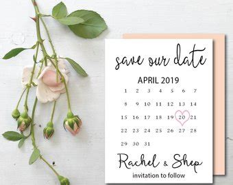 save the date calendar card free template printable calendar save the date template date save the
