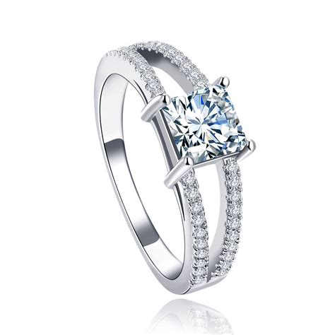 pave aaa cz 18k gold or platinum plated engagement