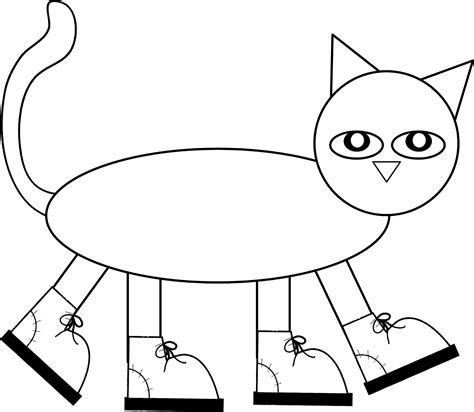 pete the cat pattern to color cut and assemble children