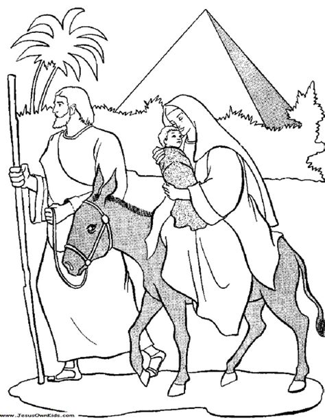 coloring pages mary joseph jesus 40c1 matthew mary and joseph flight into egypt with