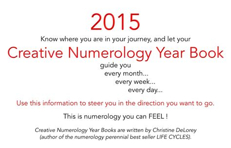 new year s creative numerology 2015 your creative numerology year book creative