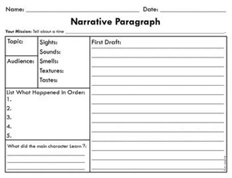 Narrative Essay Writing Graphic Organizers by Narrative Paragraph Graphic Organizer Graphic Organizers Graphics And Paragraph