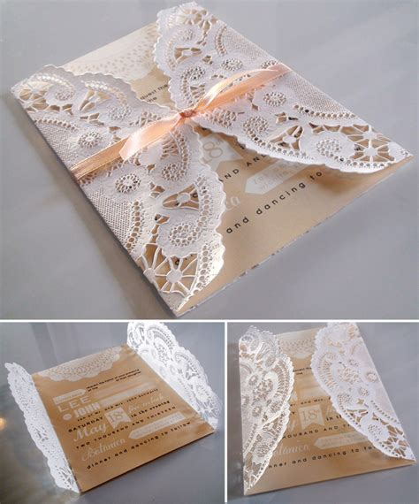 Wedding Invitations Using Doilies by Bridal Shower Invitations Bridal Shower Invitations Using