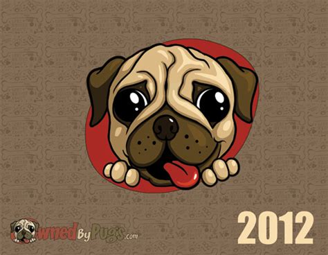 owned by pugs 2012 pug calendars the pug