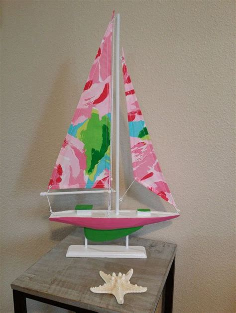 lilly pulitzer home decor fabric model sailboat made with lilly pulitzer hotty pink first