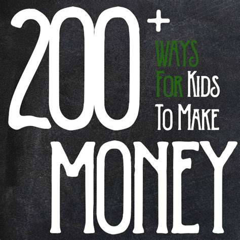 Ways To Make Money Online As A Teenager - 200 ways to make money as a kid