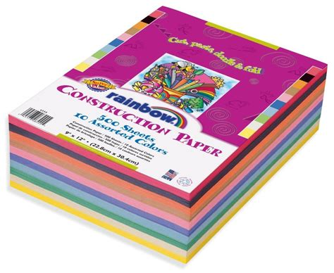 colored construction paper review of rainbow value construction paper 9 x 12 in