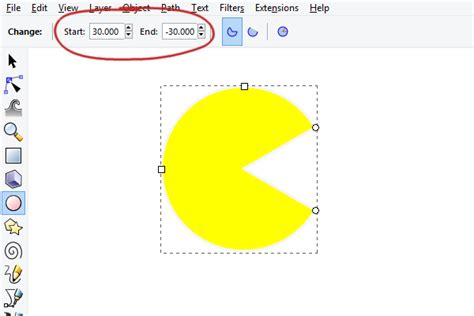 tutorial inkscape pacman the pac man tool in inkscape inkscape gimp openoffice