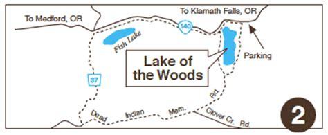 lake of the woods oregon map explore bicycling klamath lake modoc siskiyou