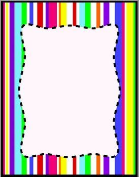 Colorful Stripes Frames, Borders, Background Clip Art