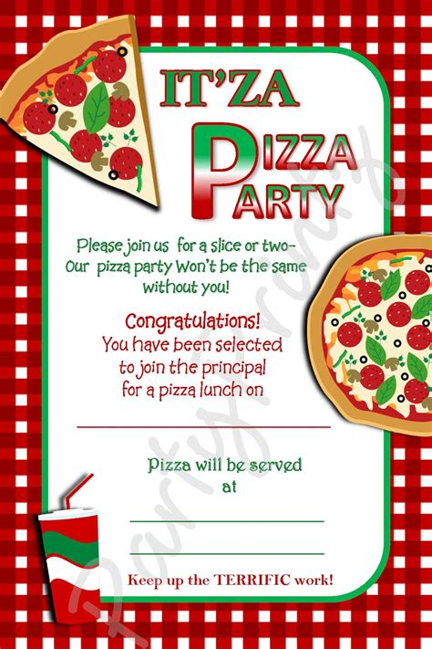 pizza template for a card pizza invitations invites