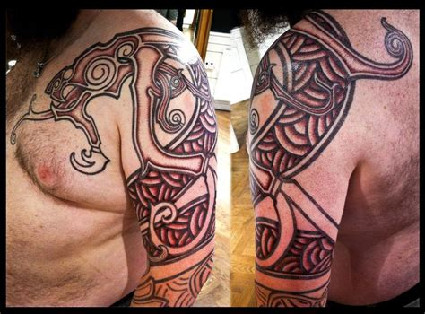 asatru tattoos nordic wyrm by meatshop