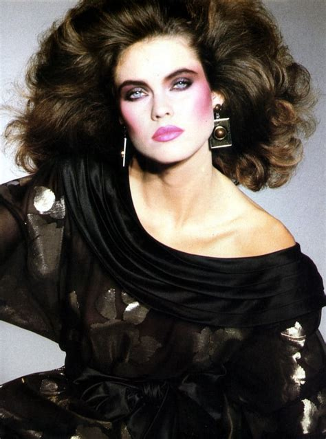 hair and makeup of the 80 s picture of carol alt