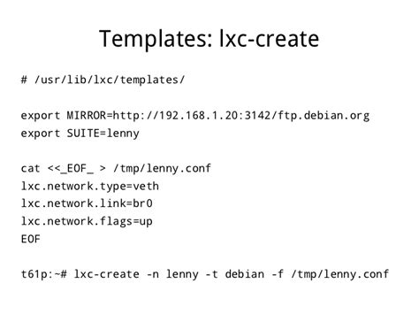 lxc templates virtualization which isn t lxc linux containers