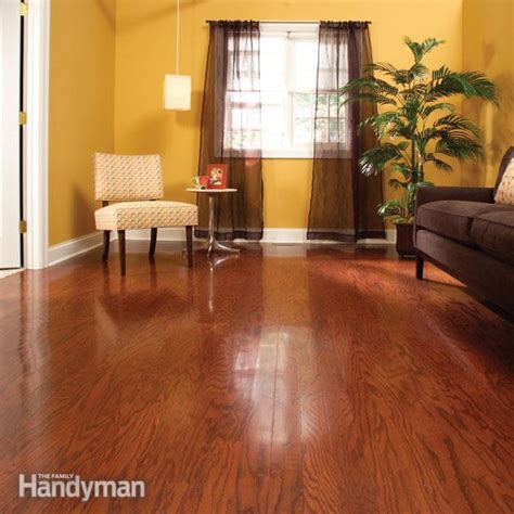 resurfacing hardwood floors without sanding refinish hardwood floors in one day the family handyman