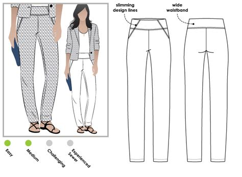 pattern review style arc stylearc beth stretch woven pant