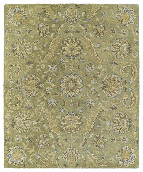 Green Accent Rug | kaleen helena virgil 3205 50 green rug
