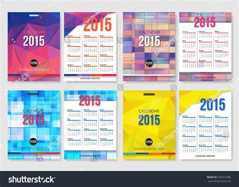 calendar flyer template set 2015 calendar template brochure geometric stock vector