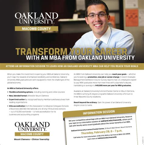 Oakland Mba by Governor Snyder S Macomb County Business Luncheon Announced