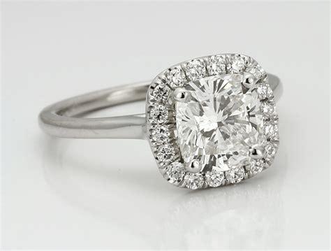 cushion engagement rings halo halo engagement rings what diamonds look best adiamor