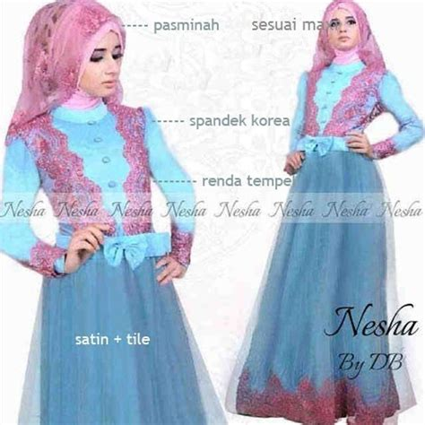 Dress Gamis Maxi Tosca Salem Kancing Ciput al madinah