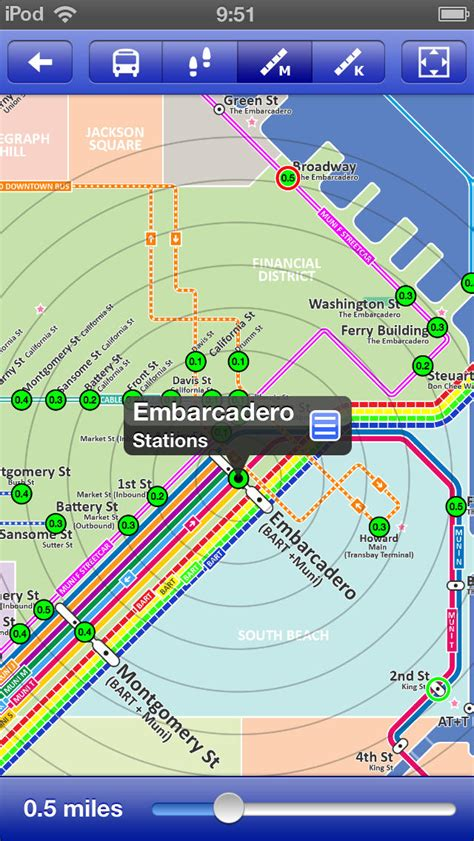 san francisco map app san francisco metro free map and route planner by zuti