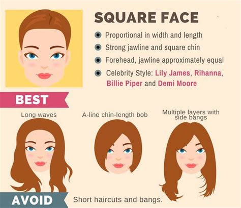 Hairstyles For Square Shaped Faces by The Ultimate Hairstyle Guide For Your Shape Makeup