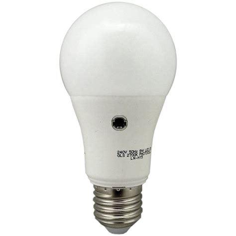 led light with photocell 05731 photocell led gls 9w dusk till e27 es l