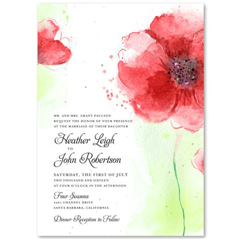 poppy wedding invitations poppy wedding invitations invitations on seeded paper colorado poppies by foreverfiances weddings