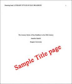 Format a new paper in apa style 6th edition