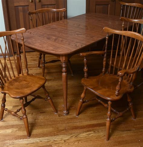 Ethan Allen Dining Table And Chairs Ethan Allen Dining Table And Chairs Ebth