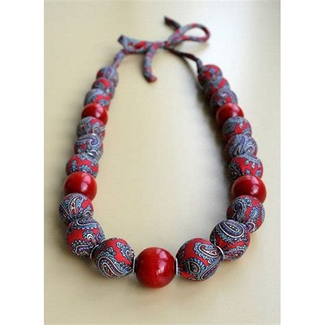 Handmade Fabric - handmade fabric necklaces