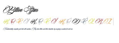tattoo fonts billion stars billion fonts